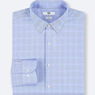 Uniqlo Men's Easy Care Checked Slim-fit Long-sleeve Shirt