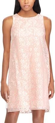 Chaps Women's Floral Lace A-Line Dress