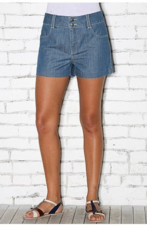 Lux High-Waisted Denim Short