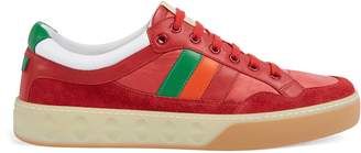 Gucci Leather and nylon sneaker