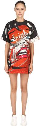 Moschino Eyes Printed Jersey T-Shirt Dress