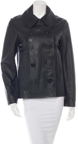 Balenciaga  Balenciaga Double-Breasted Leather Coat