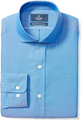 Buttoned Down Men's Classic Fit Cutaway-Collar Solid Non-Iron Dress Shirt (No Pocket)
