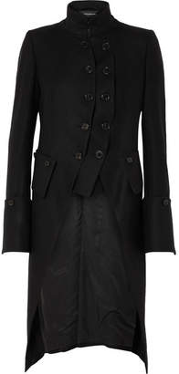 Ann Demeulemeester Layered Double-breasted Wool Coat - Black