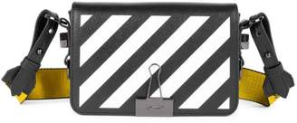 Off-White Off White Mini Diagonal Stripe Binder Clip Shoulder Bag