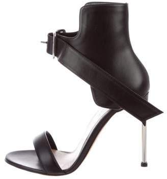 Alexander McQueen Leather Ankle Strap Sandals Black Leather Ankle Strap Sandals