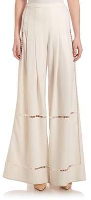 Public School Women's Delblush Pleated Crepe Culottes