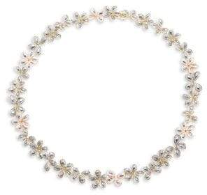 Roberto Coin 9.75 TCW Diamond & 18K White Gold Floral Necklace