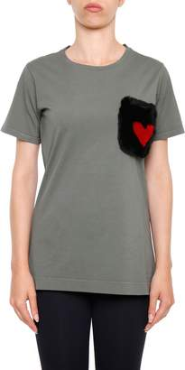 Mr & Mrs Italy T-shirt With Fur Pocket