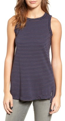 Women's Current/elliott The Muscle Tee Stripe Tank $108 thestylecure.com