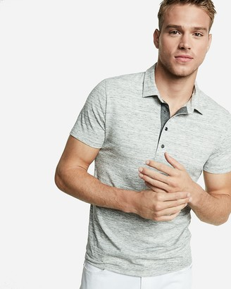 Express Marled Performance Polo