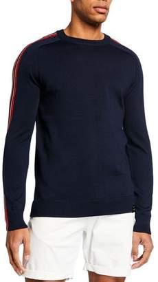 Scotch & Soda Men's Rainbow Striped Crewneck Sweater