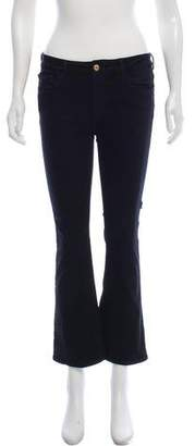 Frame Mid-Rise Flared Jeans