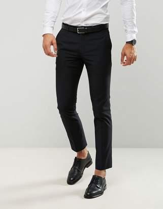 Farah Smart Skinny Suit Pants In Black