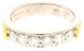 Scott Kay Platinum and 18K Yellow Gold 0.75 Ct Diamond Wedding Anniversary Engagement Ring Size 6.5