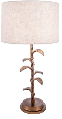 nuLoom 26In Brass Emily Linen Shade Table Lamp