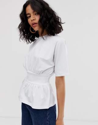 Asos rib waist panel t-shirt