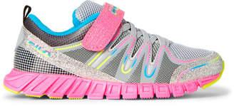 Fila Kids Girls) Grey & Multicolor Crater 4 Glitter Running Sneakers