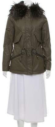 SAM. Fur-Trimmed Waxed Jacket