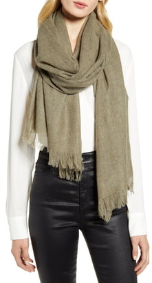Nordstrom Heathered Cashmere Gauze Scarf