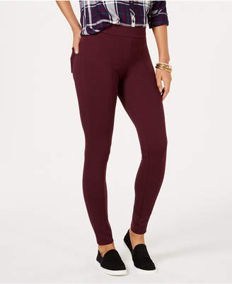 Style&Co. Style & Co Curvy Seamed Ponte-Knit Leggings