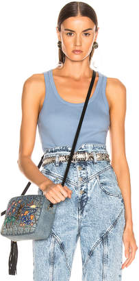 John Elliott Marlowe Rib Tank Top in Dusty Blue | FWRD