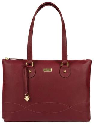 At Debenhams Cultured London Ruby Red Ivy Soft Leather Cross Body Bag