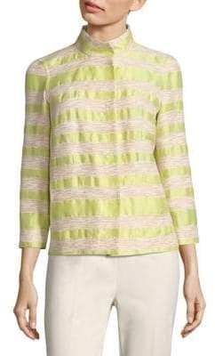 Lafayette 148 New York Vanna Striped Tweed Jacket