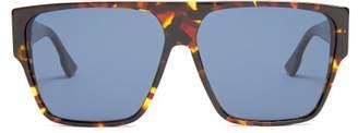 Diorhit Square Frame Sunglasses - Womens - Tortoiseshell
