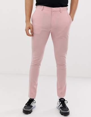 Asos Design DESIGN super skinny smart pant in rose pink