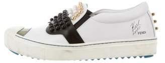 Fendi Karlito Studded Slip-On Sneakers