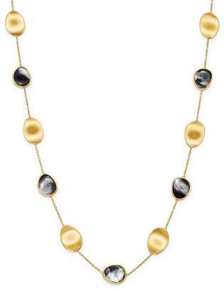 """Marco Bicego 18K Yellow Gold Lunaria Black Mother of Pearl Long Station Necklace Pearl, 36"""""""