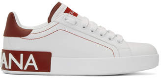 Dolce & Gabbana White and Red Portofino Sneakers
