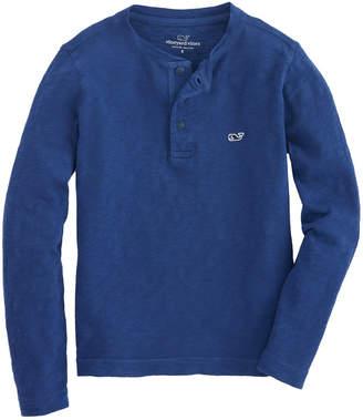 Vineyard Vines Boys Jersey Garment Dye Slub Henley Shirt