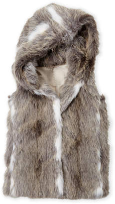 Bomboogie (Girls 7-16) Faux Fur Hooded Vest