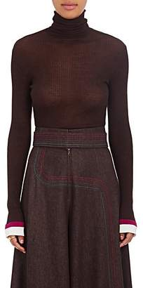 BY. Bonnie Young Women's Cashmere-Silk Turtleneck Sweater - Wine