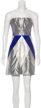 Giorgio Armani Silk Strapless Dress