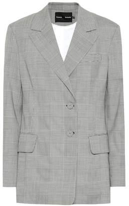 Proenza Schouler Checked stretch wool blazer