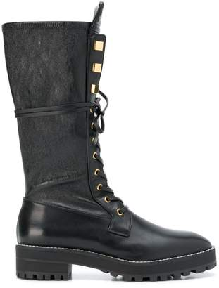 Stuart Weitzman gold studded boots