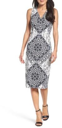Women's Maggy London Print Midi Dress $98 thestylecure.com