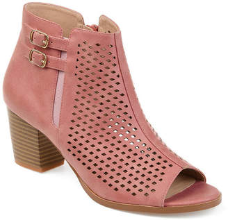 Journee Collection Womens Jc Harlem Booties Stacked Heel