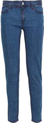 Just Cavalli Embellished Embroidered Mid-rise Skinny Jeans