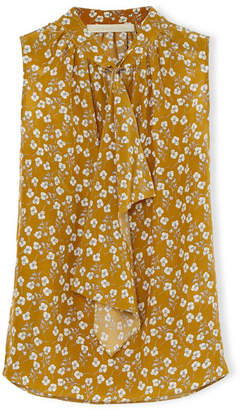 Vanessa Bruno - Huguet Pussy-bow Floral-print Silk Top - Yellow