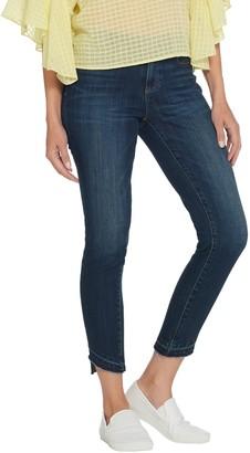 Vince Camuto Indigo Angled Hem 5-Pocket Skinny Jean