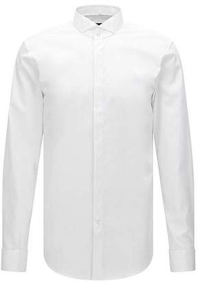 HUGO BOSS Slim-fit business shirt in pure cotton