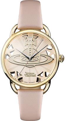 Vivienne Westwood VV163BGPK Leadenhall genuine leather strap watch