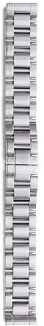 Michele 18mm Deco 3-Link Stainless Steel Bracelet