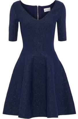 Milly Metallic Stretch-Knit Mini Dress