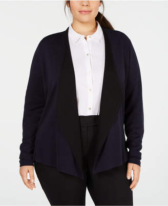 Eileen Fisher Plus Size Open Cardigan