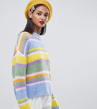 Asos Tall DESIGN Tall cropped sweater in stripe
